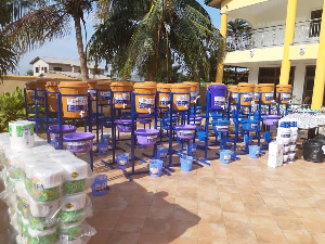3 hospitals and 35 deprived communities benefited from the donation worth over GhC200,000