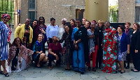 Gender and Social Protection Minister, Otiko Afisah Djaba with some of the participants