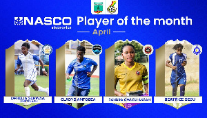 Serwaa Amponsah, Amfobea, Sessu and Owusu Ansah are the nominees for Player of the Month award