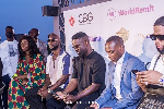 Some celebrities at the launch of the Ghana party in the park UK