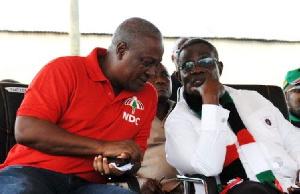 Late John Atta Mills with John Dramani Mahama