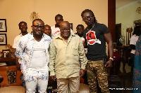 President  Akufo-Addo with Kente (Praye Tenten) and Cartel Big J (Praye Tietia)