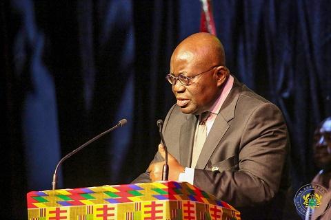 President Akufo-Addo addressing the Ghanaian community in Belgium