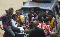 The Suspects at court yesterday