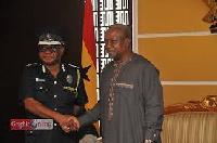 Inspector General of Police, John Kudalor and President Mahama