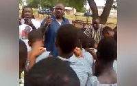 The headmaster has been suspended for allegedly allowing an NDC aspirant to campaign to the students
