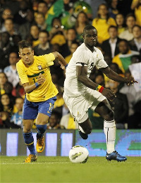Jonathan Mensah (R) at the Under 20 World Cup in Egypt in 2009