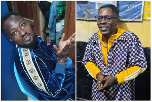 Fuuny Face (left) and Shatta Wale are both in police custody