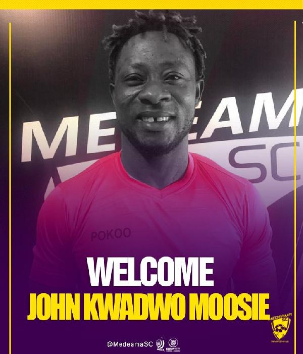 Medeama signs Eleven Wonders goalkeepeer John Moosie