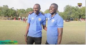 Coach Samuel Boadu with Hamza
