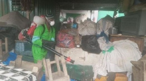 Government on Monday organised disinfection exercise at various markets