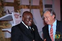 President Akufo-Addo exchanging pleasantries with Antonio Gutteres, UN Secretary General