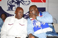 Flagbearer Nana Akufo-Addo and Paul Afoko in an enhanced photo