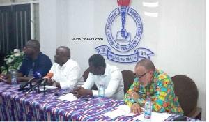 The Ghana National Association of Teachers, GNAT, oficials addressing a press conference