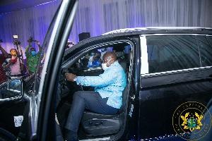 Nana Addo Dankwa Akufo-Addo at the unveiling ceremony