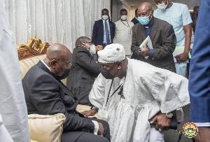 President Nana Akufo-Addo with  Alhaji Farouk Aliu Mahama