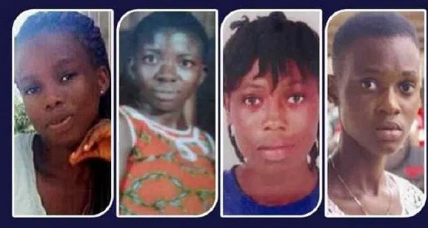 The 4 girls who were killed