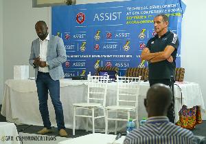 GFA President, Kurt Okraku and FIFA/UEFA Coach Educator, Markus Fritz Schmid