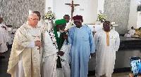 National Chief Imam, Sheikh Osman Nuhu Sharabutu [2nd from left]