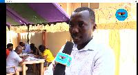 Coordinating Registration Officer at the Mataheko Old Faith centre, Ebenezer Asare Nti