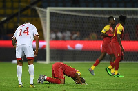 Ghana had to settle for a draw after going down to 10 men