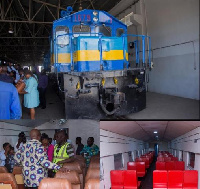 The of five coaches and a narrow-gauge line has been completed awaiting pass by GRCL