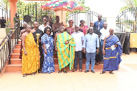 Okyenhene, Osagyefo Amoatia Ofori Panin with Land and natural resources minister and others