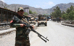 Afghan forces deployed at Torkham border point between Afghanistan and Pakistan