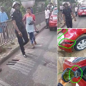 Policeman who assaulted some Ghanaian Times journalists