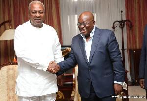 Mahama And Akufo Addo  Handshake