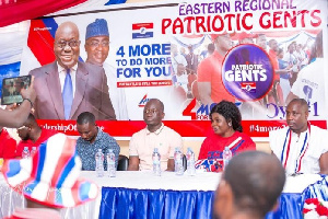 Some members of 'Patriotic Gents', a new volunteer group of the New Patriotic Party
