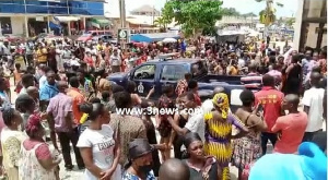 Residents of Offinso thronged the forecourt of the Offinso Circuit Court
