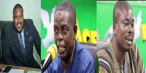 Nana B, Kwesi Pratt Jnr and Charles Owusu