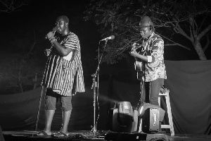 Some poets performing at Night of poetry and music concert