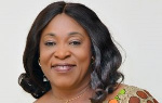 Shirley Ayorkor Botchway supports the Queen of Sanitation with PPEs