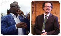 Mugabe Maase [L] and Jon Benjamin [R]