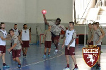Afriyie Acquah with teammates in Handball game