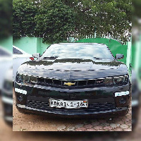 Shatta Wale's new Chevy Camaro 2016 car