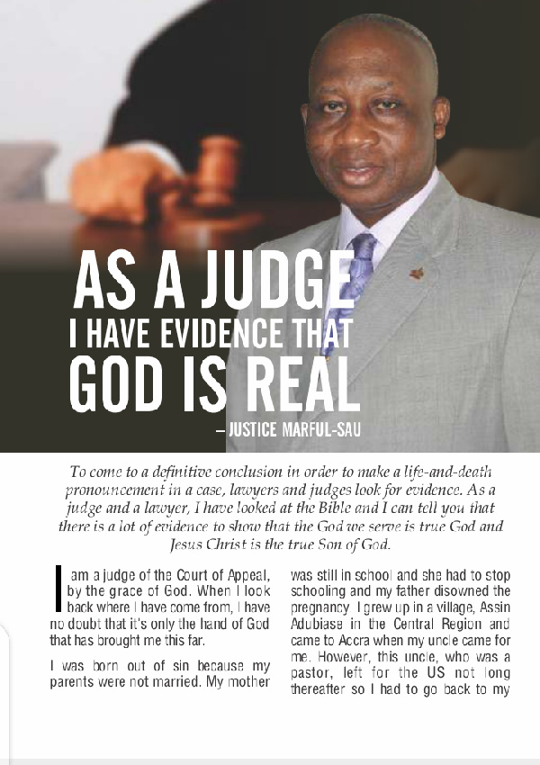 I heard his voice clearly – Late Justice Marful-Sau's testimony of God's existence. 55