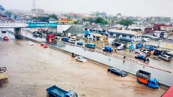 Various parts of Ghana have seen periods of heavy rain from 13 May 2019.