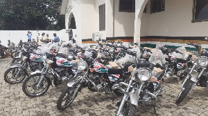 The regional office received some 36 new DVLA-registered motor bikes