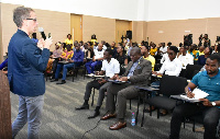 MTN's Digital Consultant, Dario Bianchi took participants through various digital, marketing skills