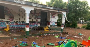 Properties at the constituency office were destroyed