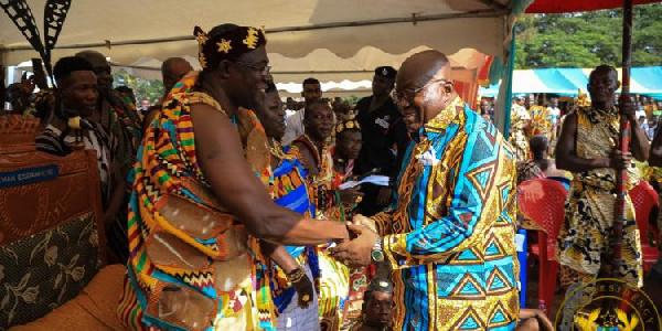 Odeifuor Afoakwa III and President Nana Addo Dankwa Akufo-Addo