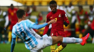 Tetteh in action against Argentina