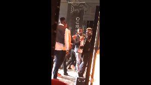 Shatta Wale stormed the stage with his millitants