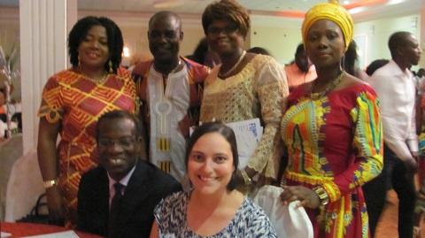Dr. Odame poses with executives of Toronto Ga Dangbe Association