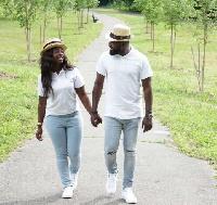 Bernard Aduse Poku and his bride to be