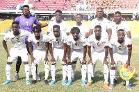 Ghana U23 starting XI against Algeria at home