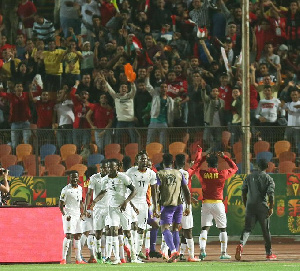 Ghana will take on the loser of the second semi-final between Egypt and South Africa